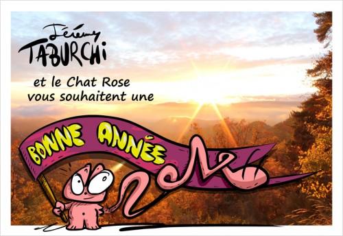 Carte de voeux du Chat Rose pour 2014