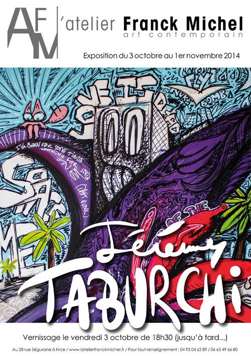 Affiche de l'exposition de Jérémy Taburchi à l'Atelier Franck Michel.